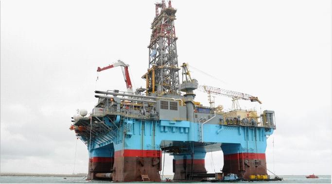 Dp2 Drilling Semi Submersible Offshore Oil Drilling Platform